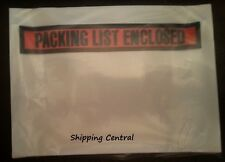 "7.5"" x5.5"" Packing List Enclosed Shipping Invoice Receipt Envelopes Pouches 50Ct"