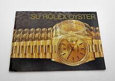 Spanish 1994 SU Rolex Oyster President Watch Catalog Instruction Manual Book 40h