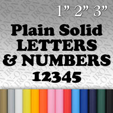 Plain Solid Letters & Numbers Iron-on Vinyl Fabric Transfer Custom Sticker NAME
