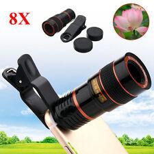 8X ZOOM Telescopio lente Optical Camera Obiettivo Per Smartphone+ Universal Nero