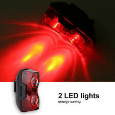 2LED Bright Bicycle Bike Safe Rear Tail Flashing Back Light Warning L l_ws