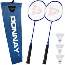 2 DONNAY Badminton Schläger 6tlg Set Badmintonschläger Federball Federballspiel