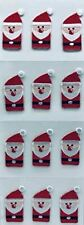 New listing Trimplace Santa Press-On Applique- 1 inch x 1-3/4 inch - 12 Pieces