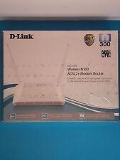 D-Link DSL-2750U Wireless N300 ADSL2+ Modem Router