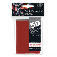 Ultra PRO Deck Protector Sleeves Standard Card Size RED 50ct 66 x 91mm
