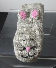Knitwits Handmade Mimi Mousey Animal Mittens Youth/Adult (6+) GY11