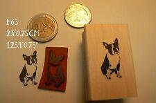 P63   Miniature Boston Terrier Dog rubber stamp