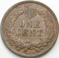 1886 Type 1 Indian Head Penny / Small Cent in SAFLIP® - XF- (VF+++)