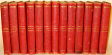 LEATHER Set; WORKS OF WILLIAM SHAKESPEARE!Miniature Small Antiquarian RARE! Gift