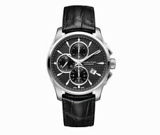 H32596731 Hamilton Jazzmaster Automatic Chronograph Black Dial Mens Steel Watch