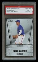 PETER ALONSO 2018 LEAF SILVER #RS-23 1ST GRADED 10 ROOKIE CARD RC NY METS (Pete)