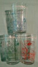 Vintage 60's Hanna Barbera The Flintstones 3 Jelly/Juice Glasses-Embossed Bottom