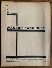 Will Grohmann Kandinsky Cahiers d'Art Paris Privatdruck 1930