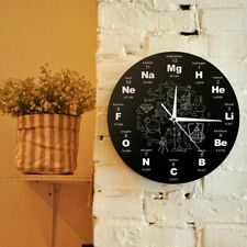 Chemistry Wall Clock Home School Business Decoration Chemical Elements Helium