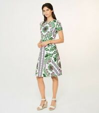 Tory Burch Cape Dress Floral Garden Party Fit & Flare Spring 2017 RARE Size XL