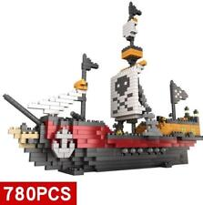 780Pcs/Set Nano Blocks Building Blocks Caribbean Pirate Ship Block EDC Toys Gift