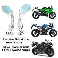 Chrome Motorcycle Sport Side Rearview Mirrors For Hayabusa ZX14R ZX10R R1 R6 S