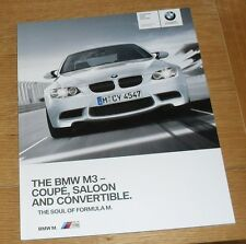 BMW M3 Brochure - E90 Saloon - E92 Coupe - E93 Convertible - 2009 - 4.0 V8
