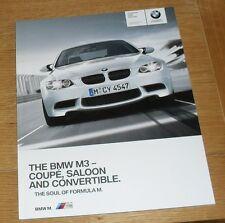 BMW M3 Brochure - E90 Saloon - E92 Coupe - E93 Convertible - 2009 - 4.0 V8