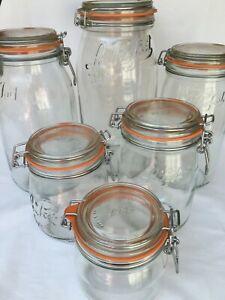 Glass Preserving/Storage Jars Le Parfait-125,500,750,1000,1500,2000 & 3000ml