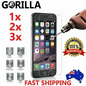 GENUINE GORILLA Tempered Glass Screen Protector For Apple iPhone 8 7 Plus XS 6 5