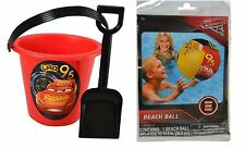 Party Favors Disney Cars 3 Sand Bucket and Shovel Plus Beach Ball