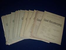 1889 GOOD HOUSEKEEPING MAGAZINE LOT OF 17 ISSUES - GREAT ADS & ILLUS. - WR 239D