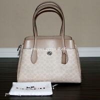 💚 COACH Lora Carryall Tote Bag Large Shoulder Purse Handbag Sand Taupe $395