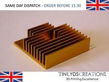 Gold heatsink upgrade mk8 extruder 40 X 40 X 10mm , CTC,Prusa 3D printer part