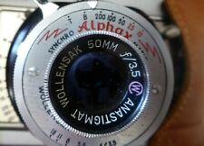 WOLLENSAK Alphax Rochester USA Synchro Matic 50mm 3.5 Anastigmat Lens