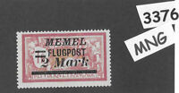 #3376  2.00M Flugpost  MNG stamp ScC24 1922 Memel Lithuania Prussia Germany WWI