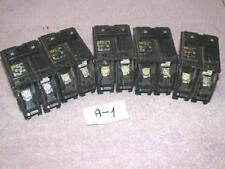 5x Square D 20 Amp 20A 20-A 2 pole Hom common trip circuit breaker 10kA Free S&H