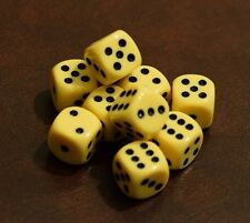 Rare Unreleased 16mm Light Orange Dice Set (10) Chessex with Black Pips Limited