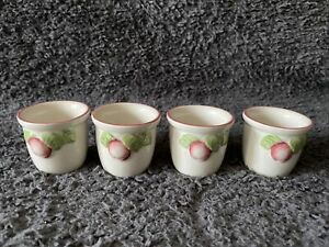 Boots THE ORCHARD Set Of 4 China Egg Cups Apples Fruit Design