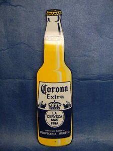 Rare Corona Extra Beer La Cerveza Mas Fina Bottle Metal Tin Sign Mexico Modelo