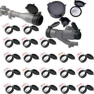 Riflescope Lens Cover Flip Up Cap Quick Spring Protection Objective Lens Lid-US