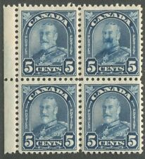 CANADA #170 MINT BLOCK OF 4 SMUDGE PRINT