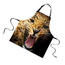 Leopard Animal Print Lady Women's Home Apron Waiter Baking Apron Dress