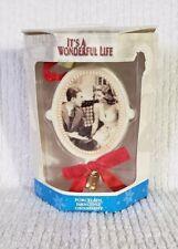 It's A Wonderful Life Porcelain Ornament ~George & Mary Bailey~ Enesco *NEW*