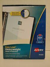 Avery 74401 200 Pack Easy Load Heavyweight Sheet Protectors Non Glare