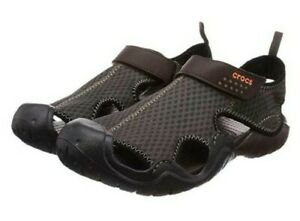 NWT CROCS SWIFTWATER Espresso Brown Relaxed Fisherman Mesh Deck Sandals CHOOSE