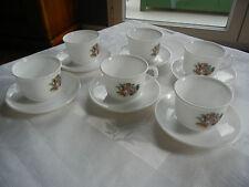 ARCOPAL   6 tasses à Café  avec soucoupes Romantique