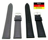 Island Uhrenarmband sehr weiches Kalbs Leder 20mm grau, schwarz Made in Germany