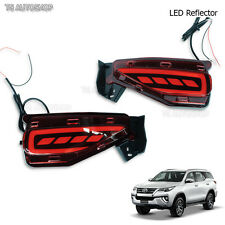 Fit Toyota New Fortuner 4Dr Suv 2016 2017 LED Red Reflector Brake & Light Bumber