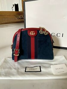 100% AUTHENTIC Gucci Ophidia Suede GG Crossbody Handle Messenger Bag £1,850
