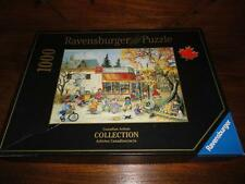 Ravensburger Puzzle Canadian Artist Pauline Paquin Fall Corner Store 1000pc 2007