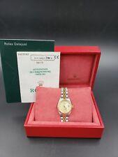 Rolex Ladies Steel & 18K Gold Datejust 69173 26MM Original Diamond B&P LussoTime