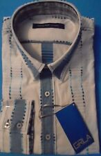 NWT GEORG ROTH, Beautiful White w/Blue Pattern , Size M, Soft 100% Cotton (1045)