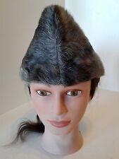 Antique Men's  STETSON RABBIT FUR HAT Morgans Medium Grey Black Russian Canada
