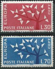ITALIA EUROPA cept 1962 Sin Fijasellos MNH